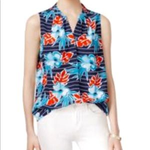 Maison Jules, Sleevless Printed Top, XS